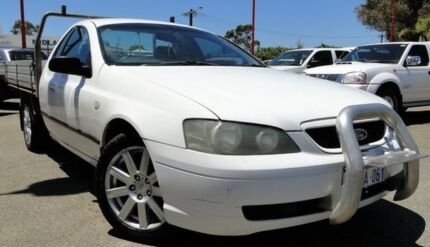 2005 Ford Falcon BA Mk II XL Super Cab White 4 Speed Sports Automatic Cab Chassis Bellevue Swan Area Preview