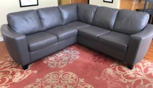 "PALLISER ""Leeds "" all leather sectional sofa"