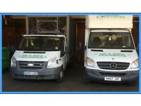 MAN AND VAN RUBBISH AND WASTE COLLECTED AND CLEARED SAMEDAY SERVICE AVAILABLE .