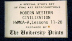 A special study set of fine art reproductions.MODERN WESTERN $6