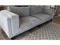 IKEA Nockeby Three Seat Sofa Tallmyra White Black 3 seater sofa