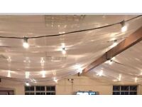 Organza material Wedding Decoration drapes ceiling coverage