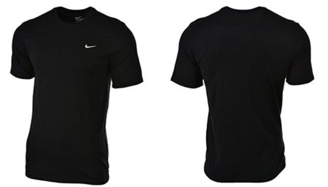 Détails sur Homme nike brodé swoosh noir à manches courtes T shirt top afficher le titre d'origine