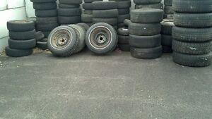 récupère vieux pneu avec rim