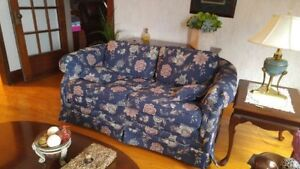 Two Navy Loveseats
