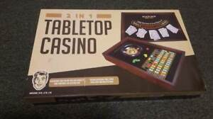 2 in 1 Tabletop Casino - Brand New/Never Opened