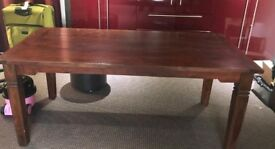 Real oak wooden table