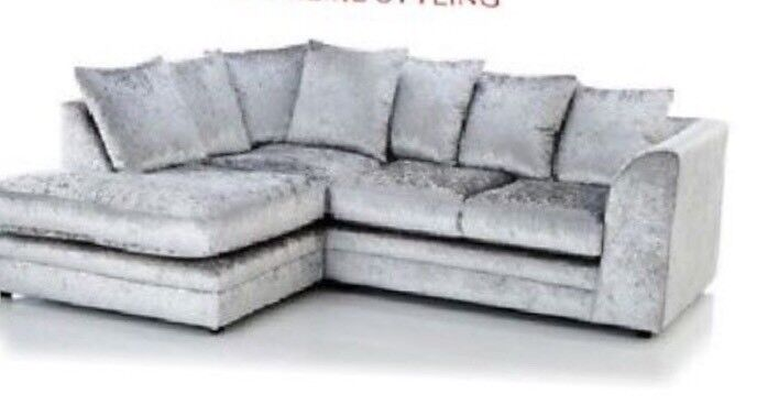 Crushed Velvet Small Corner Sofa In North Shields Tyne And Wear
