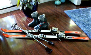 Downhill Skis, Bindings, Boots, Poles