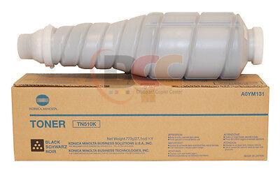 A0ym131 Oem Konica Minolta Bizhub C500 Black Toner Cartridge Tn510k High Yield