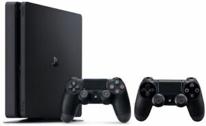 PS4 1TB Slim Console, 2 Controllers & Games - Perfect Condition