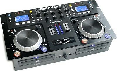 Gem CMP500 Sound Usb/mp3/dual Cd Player/mixer