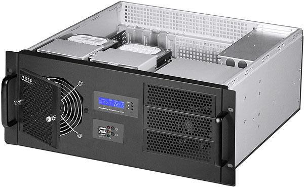 "4U F-LCD(D:14.96"")(3x5.25""+9xHDDs Bay)(Rackmount Chassis)(Redundant PSU OK!) NEW"