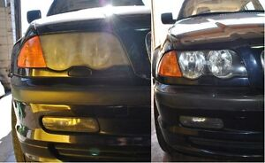 Headlight restoration for only $17.49 for each at your driveway
