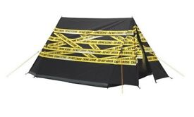 Brand New With tags Two Man Tent - Crime Scene Do Not Cross Graphics