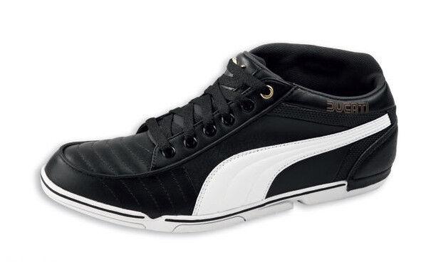 a8ce43d4f5 DUCATI Puma 65 cc halbhohe Turnschuhe Schuhe Shoes Sneakers schwarz weiß  NEU !!*