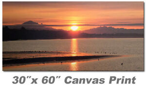 Canvas Size 30″ x 60″ - no frame White Rock Sunrise