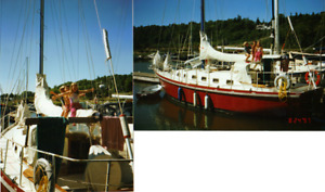 Goderich 35 steel cutter rigged sailboat