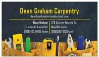 Eager Experienced Licensed Carpenter