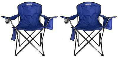 2-Pack Coleman Camping - Lawn Chairs With Built-In Cooler, B