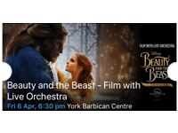 Beauty and the Beast film with live orchestra in York