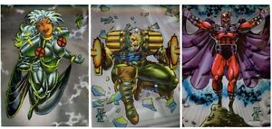X-MEN SERIES 2 CHASE SET OF 3 CARDS H-1-H-3 BY SKYBOX, MARVEL 1993