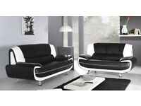 KAROL PALERMO SOFA SUITE 3 + 2 SOFA BLACK WHITE RED BROWN CHEAPEST
