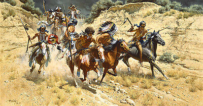 Frank McCarthy THE DECOYS, Native American,Sioux Anniversary giclee canvas #2/25
