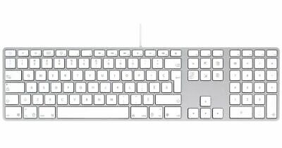Apple A1243 Aluminium Keyboard QWERTY USB Wired UK Layout - Functional