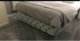 FREE Silver crushed velvet king size divan base