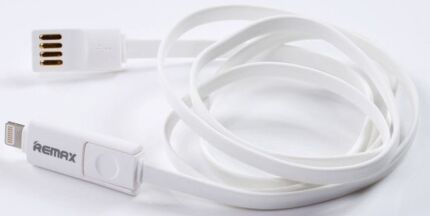 iPHONE 6 LIGHTNING Plus MICRO USB UNIVERSAL FLAT 2in1 CABLE 2.4A! Lindfield Ku-ring-gai Area Preview
