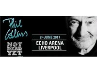 PHIL COLLINS LIVERPOOL TICKETS 2ND JUNE 4 TICKETS AVAILABLE BLOCK 09 *TICKETS IN HAND* £225
