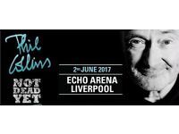 PHIL COLLINS TICKETS LIVERPOOL 2nd JUNE 2017*BLOCK 09* 3 AVAILABLE TICKETS IN HAND £150