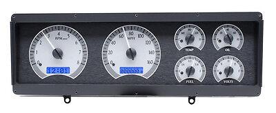 Dakota Digital 78-88 Oldsmobile Cutlass Analog Gauge Silver Blue VHX-78O-CUT-S-B
