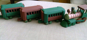 Vintage Wooden toy train set