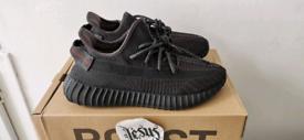 Adidas Yeezy Boost 350 UK 8 STATIC BLACK NEW IN BOX