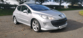 2008 PEUGEOT 308 GT TURBO 150 MOTED TO JULY 2021 POSS PART EX