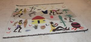 Authentic Hand Woven Tribal North Sotho Rug/Tapestry