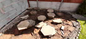 Hexagon Garden Slabs for sale