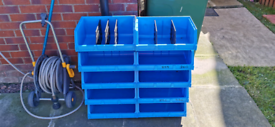 Storage container drawers