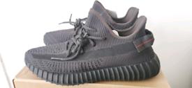 Adidas Yeezy Boost UK 10.5 BLACK STATIC NEW IN BOX