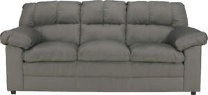 Ashley Keanna Cobblestone Microfiber Sofa