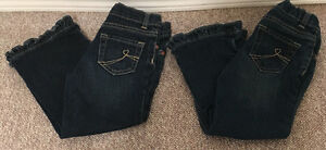 Childrens Place Jeans Ruffle Flare Stretch Toddler sz 4T
