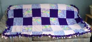 Tinker Bell Tie Together Fleece Quilt