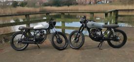 X2 Honda cg 125 cafe racer not a cb,ybr, **##£2600 ono##** each
