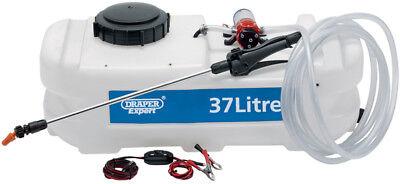 Draper Expert 37L 12V Atv Quad Bike Mounted Spot Weed Killer Fertilizer Sprayer