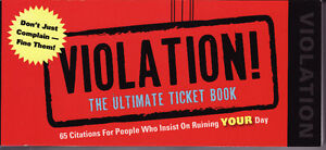 Violation:The Ultimate Ticket Book Cambridge Kitchener Area image 1