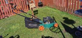 Large 4 stroke Petrol lawnmower