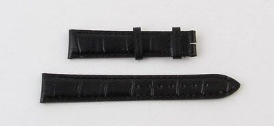 Longines Lederband Uhrband Schwarz 16 mm