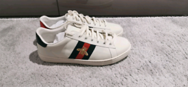 Gucci White Bumblebee Trainers UK 8 FREE DELIVERY